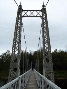 Cambus o' May white suspension bridge Cairngorms National Park Scotland, Scotland photography Jim Caldwell, Biking Scotland